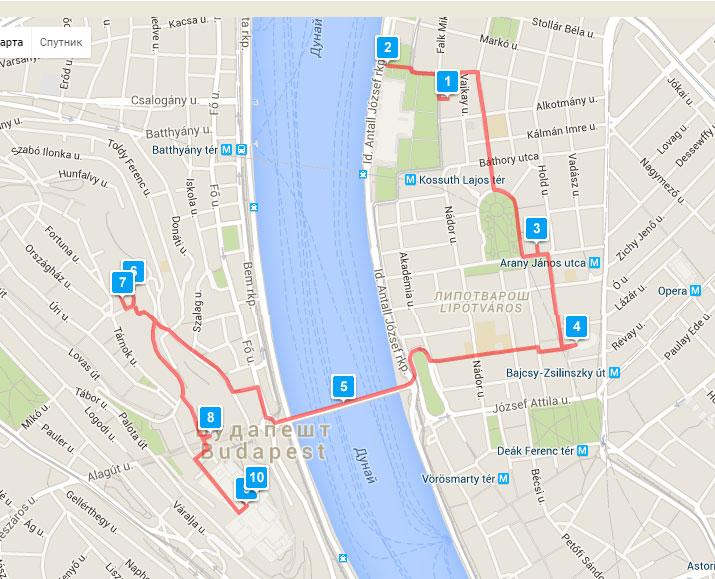 Туристический маршрут по Будапешту 1