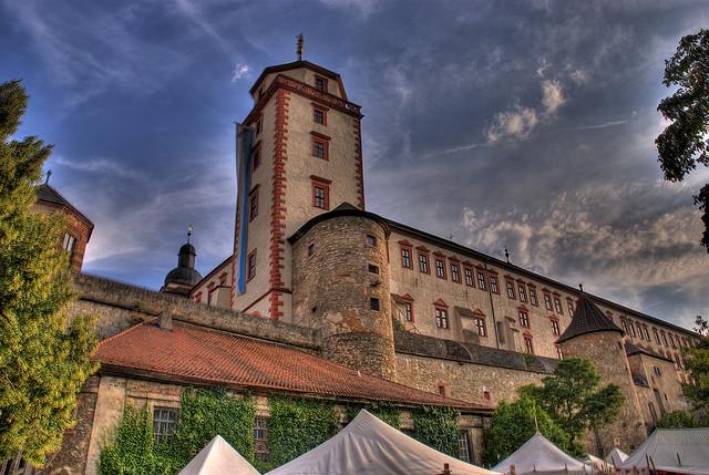 Крепость Мариенберг в Вюрцбурге в Германия