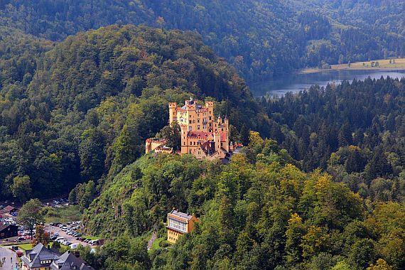 Замок Хоэншвангау в Фюссене в Германия