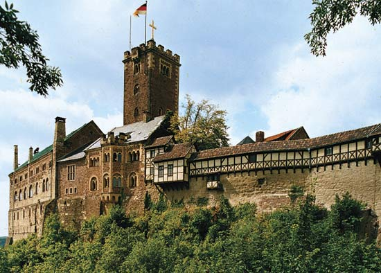 Замок Вартбург в Вартбурге