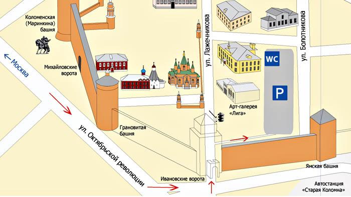 Как добраться до Коломенского кремля