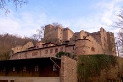 Замок Хоэнбаден в Баден-Бадене в Германии