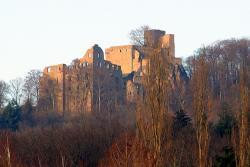 Вид на Замок Хоэнбаден в Баден-Бадене