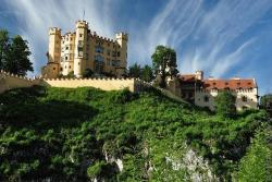 Замок Хоэншвангау в Фюссене в Германии