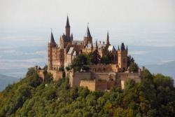 Замок Гогенцоллерн в Баден-Вюртемберге в Германии