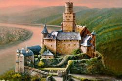 Замок Марксбург в Рейнланд-Пфальце в Германии