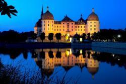 Замок Морицбург в Дрездене в Германии