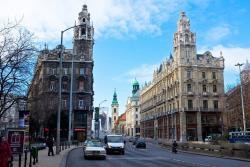 Проспект Андраши в Будапеште в Венгрии